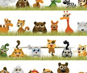 interesting little animals vector material