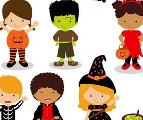 Halloween Set shiny vector