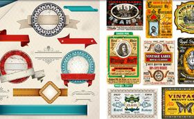 Different Labels Set vector graphics