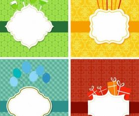 Party frame set vector