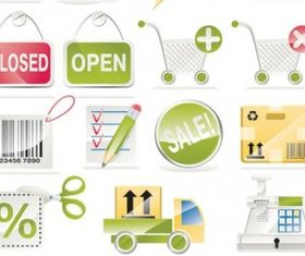 shopping icon vector design