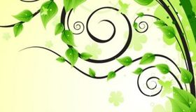 Design Element with Green Leaves vector