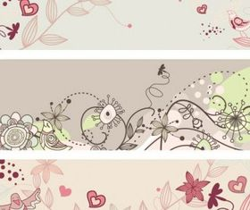 fashion cute bird flowers 2 vectors material