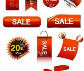 sale discount tag button Illustration vector