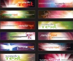 web banner background template vector