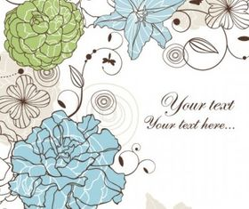 seamless floral background 4 vector