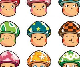 Cartoon Mushrooms Set vectors graphics