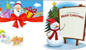 Christmas Backgrounds 3 vectors material