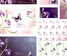 dream flowers set vector
