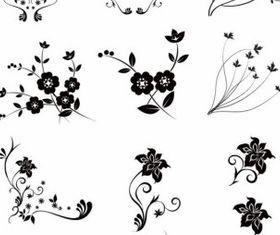 Floral free vectors material