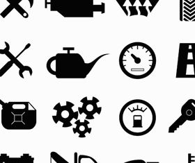 Black Car Service Icons vector