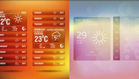 Weather Wigets Backgrounds 2 vector