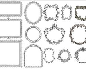 Decorative Vintage Frames 3 vector