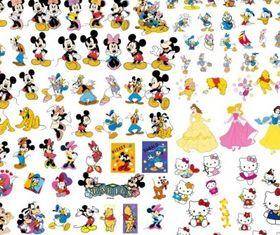 disney cartoon clip art collection vector