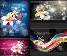 flowers and beautiful background design vectors