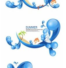 special summer theme vectors