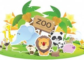 Zoo Cute creative vector