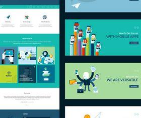 Web Flat Banners Set vectors