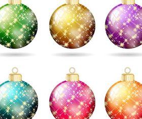 Christmas Shiny Balls creative vector