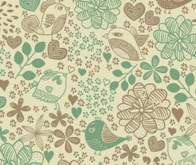 Flowers Seamless Pattern Background vector