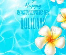 Beautiful summer background vectors graphic