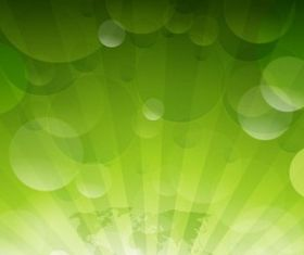 Abstract Green Rays Background vector