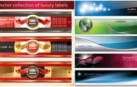 several banners vector graphics