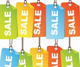 Colourful Sale Tags Illustration vector