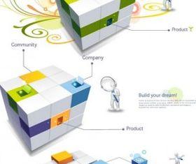 3d cube vectors