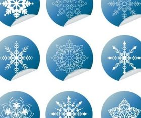 Snowflake Winter Set Vector design