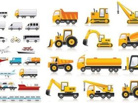 Transport Vehicle Icons Vector Illustration