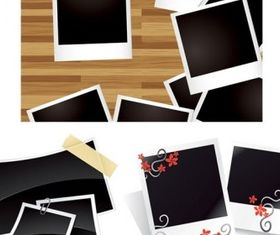 blank photo paper set vector