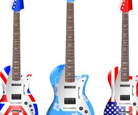 Various Guitars vectors graphics