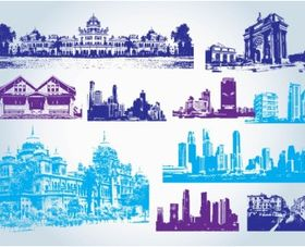 Buildings Clip Art free vector