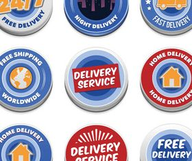Delivery Color Symbols set vector