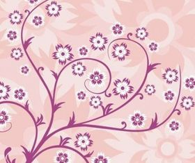 Abstract Floral Background Pink vector
