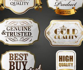 Gold Luxury Labels Mix design vectors