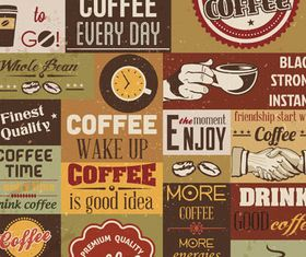 Retro Coffee Symbols vector