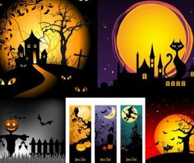 halloween horror cartoon illustrators vector