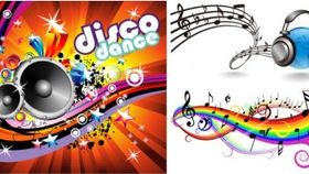 music theme vectors material