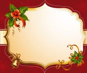 Red christmas frame set vector