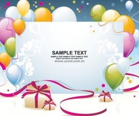 balloon gift card background vector graphics