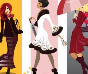 fashion girl illustrator 01 design vector