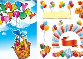 happy birthday 2 vector