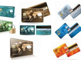 credit card bank vector material
