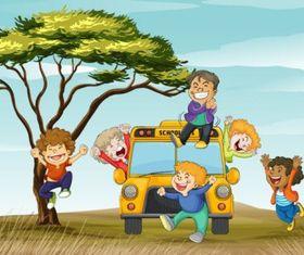 cute cartoon background 03 vector set