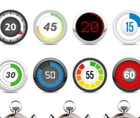 Stopwatches and Timers vector