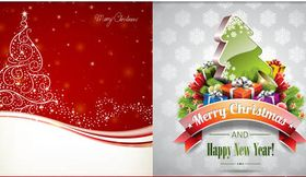 Christmas Backgrounds 2 vectors graphics
