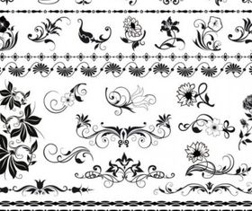 exquisite lace pattern 03 vector design