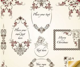 pattern border 04 set vector